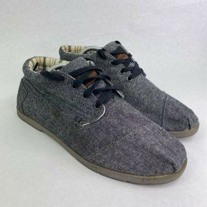 Toms Mens Fashion Sneakers Blue Fabric Denim Look